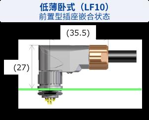 低薄卧式(LF10)前置型插座嵌合状态