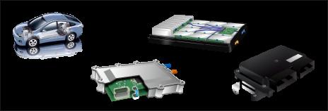 车载ECU、逆变器、DC/DC转换器、充电器、电池包等驱动系统的电气产品
