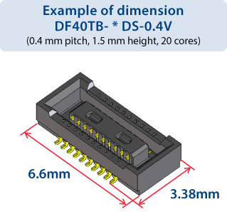 Example of dimension DF40TB- * DS-0.4V