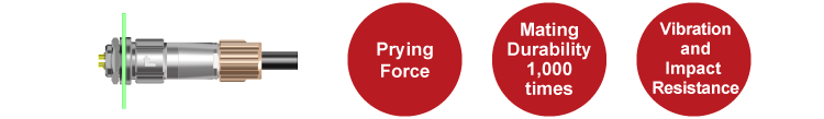 Prying Force, Mating Durability 1000 times, Vibration and Impact Resistance