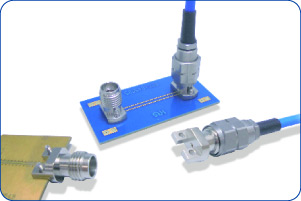 Coaxial connectors for board test