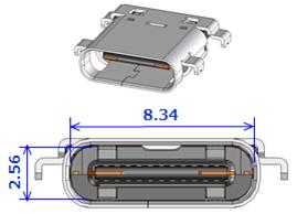 Type-C USB 3Dイラスト【ヒロセ電機 信頼のタイプCコネクタ】