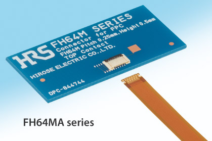 """高さ0.5mmのFPC用コネクタが、スマートフォンの""""高密度化""""と""""薄型化""""を加速!"""