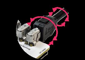 産業機器向け高速イーサネットコネクタ。堅牢設計で、産業機器やロボットでの活用に最適