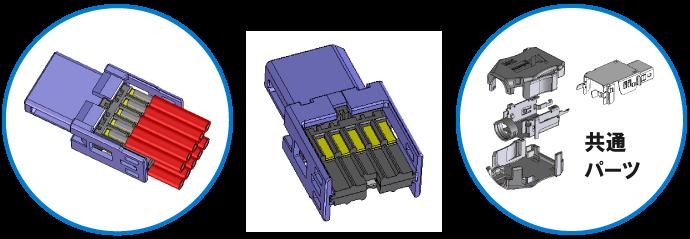 産業機器、ロボット向けイーサネット用小型コネクタ